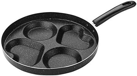Omeletpan met vier gaten Antikleef Geen olie Rook Ontbijtgrill Pan Koken Voor eieren Ham Pannenkoekenpan Koekenpannen Btype