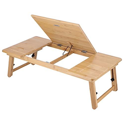 Eosnow Mesa de bambú para computadora portátil, Mesa Plegable de Exquisita artesanía...