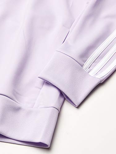 adidas Women's Essentials Tricot Track Top Purple Tint/White Large