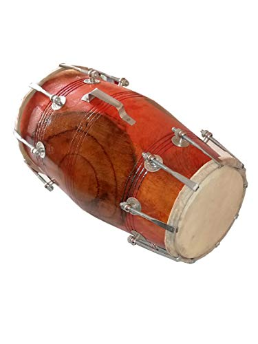 Indian Folk Musical instrument Nut and Bolt Dholak/Dholki of mango wood