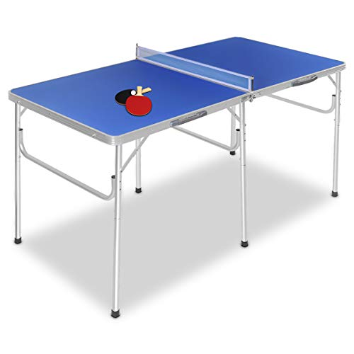 COSTWAY Mesa Ping Pong Plegable Tenis de Mesa con Red 152,4 x 76,2 ...