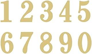 Number 2 Classic Font Unfinished Wood Letter Home Decor Door Hanger MDF Shape Canvas