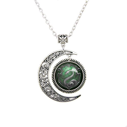 Moon Necklace Snake Pendant Snake Necklace Jewelry