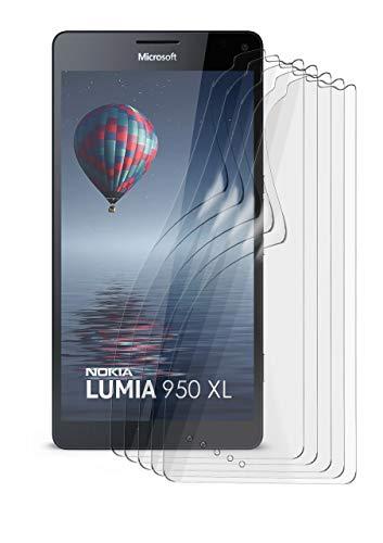 MoEx Anti Reflex Bildschirmschutzfolie kompatibel mit Microsoft Lumia 950 XL   Schutzfolie Matt Bildschirm Folie gegen Reflexionen, flexibel, 5X Stück