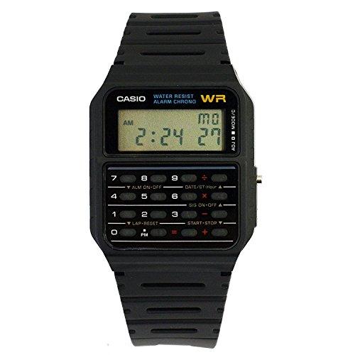 Casio Reloj con Correa de Goma Unisex CA-53W-1ER