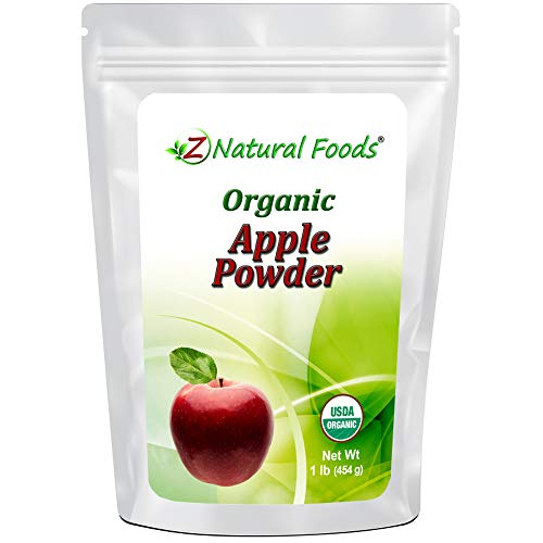 Organic Apple Powder - Made In USA - Superfood Fruit Supplement For Drinks, Juice, Smoothies, Recipes & Baking - Raw, Vegan, Gluten Free, Non GMO, Kosher - 1 lb