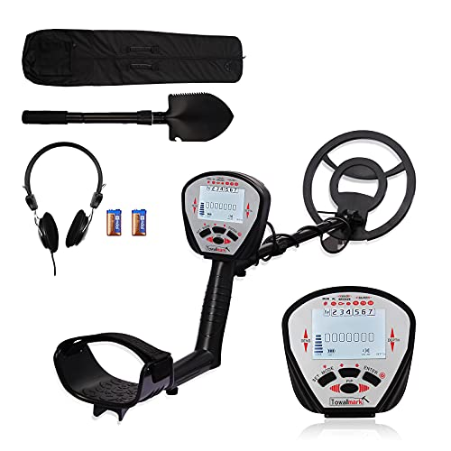 Metal Detector,Towallmark High Accuracy Adjustable Professional Waterproof Metal Detector Metal Finder LCD Display Pinpoint Metal Mode with Light 10'' IP68 Waterproof Search Coil for Adults Kids