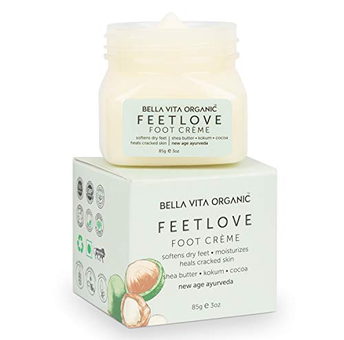 Bella Vita Organic Feet Love Foot Cream Softens Hydrates Dry Feet, Moisturizes & Repairs Cracked Heel & Skin, Combats feet odour, 85 gm