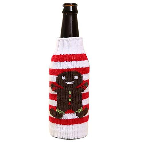 F-blue Botella de Vino de Navidad Cubierta Jersey de Punto Ropa de...