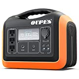 OUPES Portable Power Station 1100W, 310,000mAh Solar Mobile Power Generator, 3x110V AC Outlets, 3600+Charging Cycles LiFePO4 Battery Pack for Home Outdoor Advanture RV/Van Camping Emergency, and More