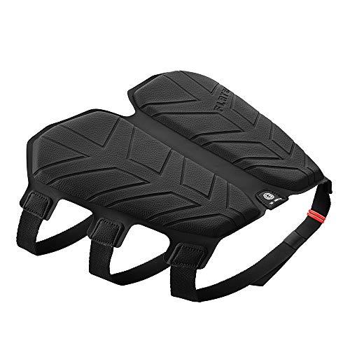 Q LAB Flatbat Cover sella moto da viaggio in gel memory – un modo per alleviare la pressione del viaggio per pilota e passeggero, waterproof, universale – ottimo come regalo - 50-80kg - Nero