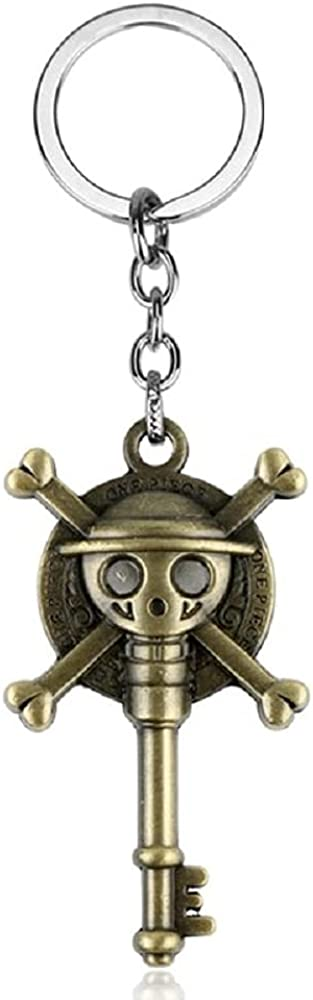 Hot Anime One Piece Keyring Luffy Ace Hat Thousand Sunny Alloy Key Chain Car Charm Holder Chaveiro Pendant Pirate Skull Keychain