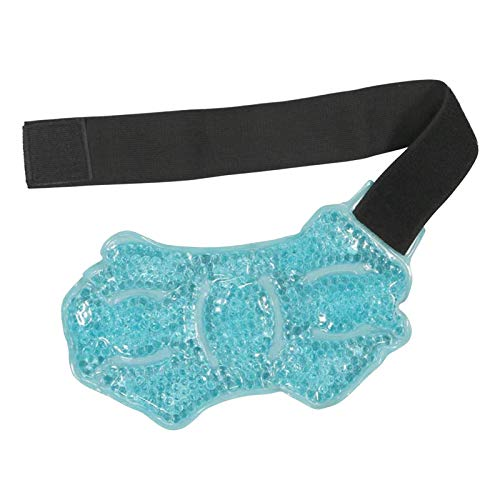 harayaa Calor Paquete en Frío Sports Runner Tobillera Lesiones Gel-Beads Bolsa Esguince Tobillera - Azul