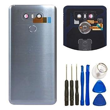 For LG G6 Glass Battery Back Cover - Battery Door Cover + Fingerprint Flex Sensor + Camera Glass Lens Cover Replacement Parts  Waterproof  with Tool Kit For LG G6 Verizon VS988  Gary