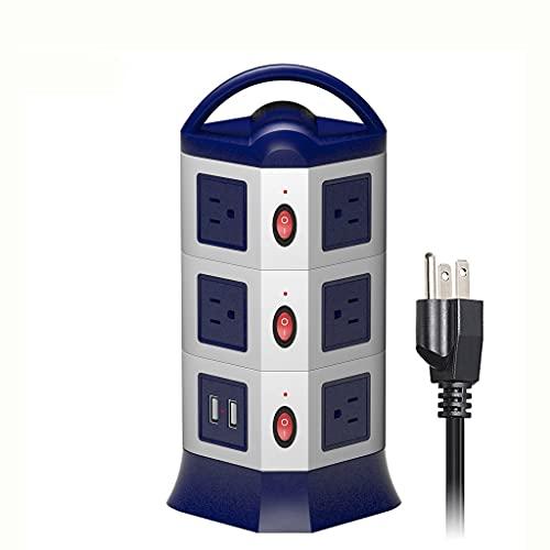 Diaod Potencia Vertical Torre Torre Protector de sobretensiones USB Extensión Socket EE. UU. Los enchufes eléctricos, Enchufe, por Separado, interruptores de 1.8M.