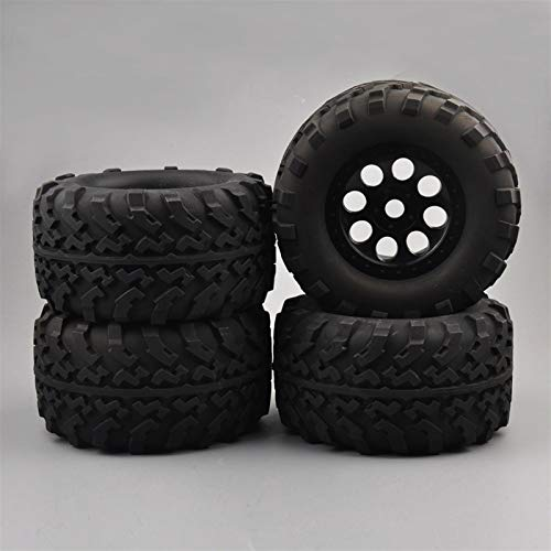 1: 8 Escala Cumbre de Camiones E-Revo Modelo de automóvil con Llantas de neumáticos de 17 mm Hex encajan HPI RC Car Accesorios Modelo Modelo de neumáticos de Rueda ( Color : Black )