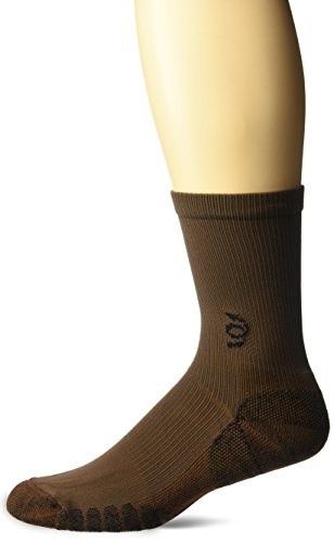 Travelsox The Best Dress and Travel Crew Compression Socks TSC, Brown, Medium