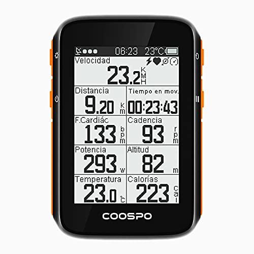 CooSpo Ciclocomputador GPS Computadora Bicicleta Inalámbrica Ordenador de Ciclismo Pantalla LCD de 2,4 Pulgadas por Impermeable Bicicleta de Carretera MTB Bicicleta