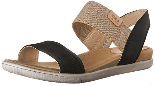 Ecco Womens Damara Ankle Gladiator Sandal, Black, 37 EU/6-6.6 M US