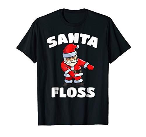 Santa Floss Dance T-shirt Funny Christmas Party Pajama Shirt