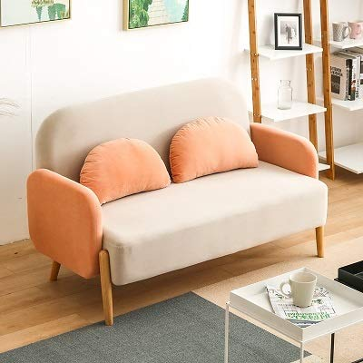 Small Family Sofa Rental Room net red Living Room Apartment Bedroom Single Double Girl Heart Nordic Fabric Economy