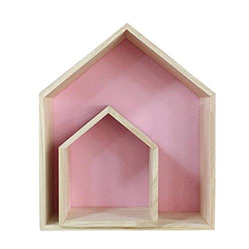 Hausregale Kinderzimmer, Wandregal Schweberegal Hausform Wandregal Holz Setzkasten Für Die Wand Kinderzimmer S/L