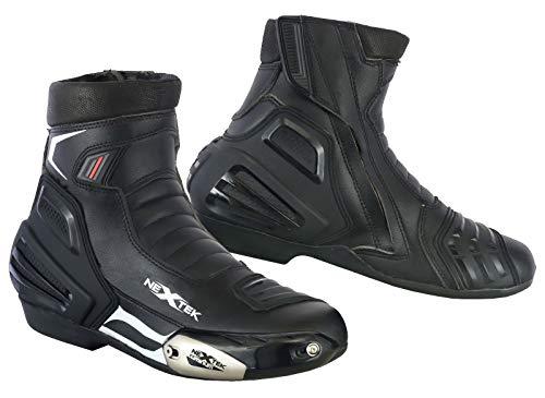 REXTEK Moto Stivali da Moto Scarpe da Corsa Stylist Stivaletto off Road Moto Touring Scarpe Impermeabile corazzato per Uomini Ragazzi Bikers