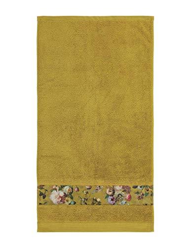 ESSENZA Handtuch Fleur Blumen Pfingstrosen Tulpen Baumwolle Gelb, 60x110 cm