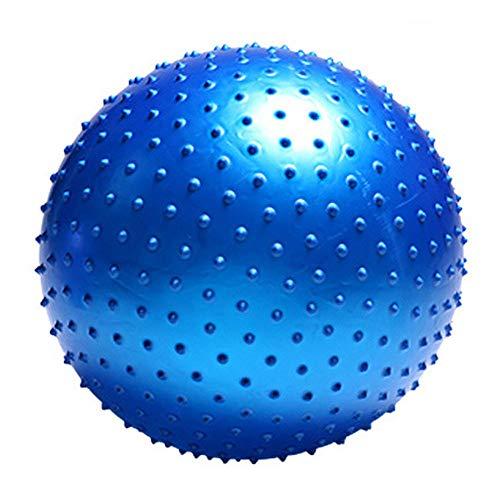 XDDQB Yoga-Ball Yoga Workout Gym üBung Bodymate Gymnastikball Sportball Weich RüCkenüBungen Und DehnüBungen Yoga Ball FüR Erwachsene-Stachel-Blau 75cm
