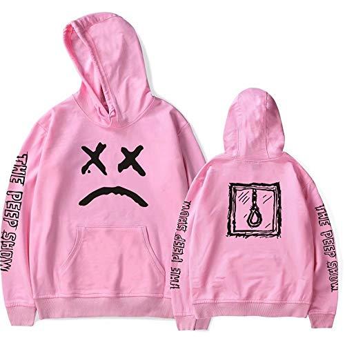 Sudadera con Capucha y Estampado de Moda Unisex de Lil Peep Suéter de Cuello Redondo con Capucha Pullover Rapero de Hip Hop