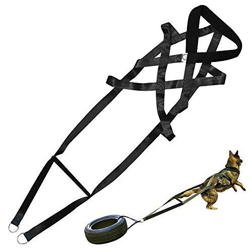 PET ARTIST Hundegeschirr zum Ziehen von Gewichten für große Arbeitshunde, zum Ziehen von Schlitten, strapazierfähiges Schlitten-Zuggeschirr für Hunde