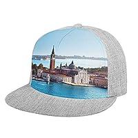 フラットつばの野球キャップヴェネツィア イタリア 防寒帽 日よけ防風帽 通気性 軽い 釣り ゴルフ 運転 アウトドア メンズ レディース 化粧なしハット