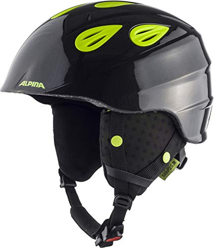 ALPINA GRAP 2.0 JR. Skihelm, Kinder, charcoal-neon yellow, 51-54