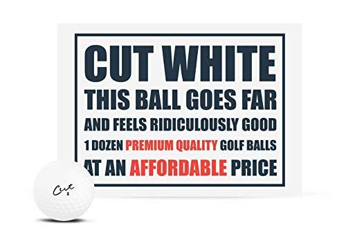 Cut Matte White Golf Balls (1 Dozen)