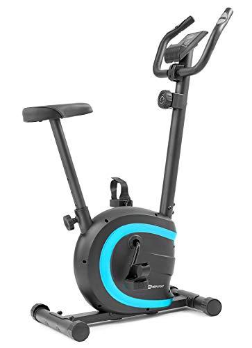 Hop-Sport HS-015H Heimtrainer Fahrrad für Zuhause - kompaktes Fitnessbike ideal für Senioren - Fitnessfahhrad mit Trainingscomputer für EIN max. Nutzergewicht von 120kg Türkis