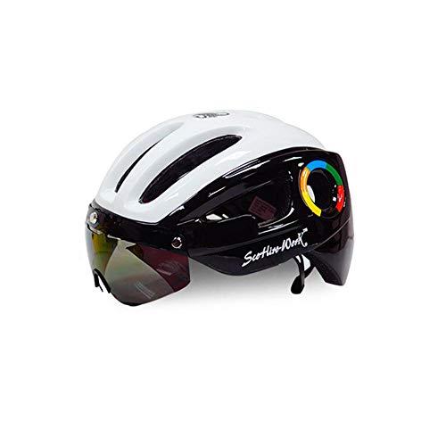 SCOHIRO-WORK Scohiro-workbicycle casque pour homme Casco Cyclisme Route VTT V/élo de montagne Triathlon TT//3/casque de cyclisme lentille Lunettes Equipe Capacete DA Bicicleta