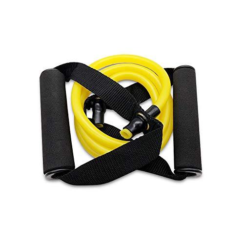 YMZ Bandas elásticas de resistencia de 120 cm con asas para yoga, para entrenamiento, gimnasio, entrenamiento en casa, para hombres y mujeres (amarillo)