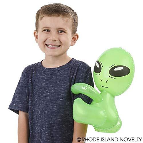 Rhode Island Novelty Hug Me Alien Inflatables, 12.5 Inch - 1 Dozen