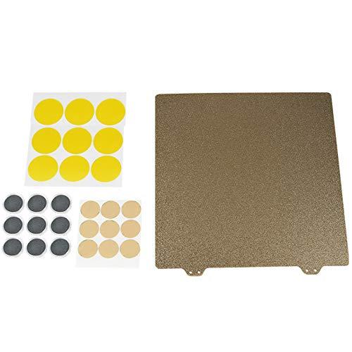 Jaimenalin Stampante 3D Hot Bed Gold Double Layer Texture Pei Powder 300Mm Steel Plate 6X Blocco Magnetico per Wanhao FDM, Deskto 9, Anet E12, Longer Lk1, Anet E10, Cr-10, Cr-10S