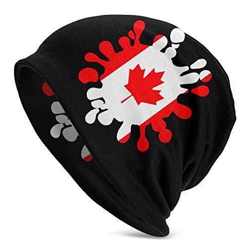 shenguang Canada Flag Paint Splash Herren Einfarbige Mütze für Damen - Stretchy &...