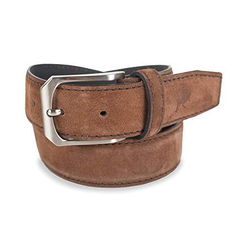 Lois - cinturon piel serraje hombre cuero marca 35 mm de ancho 49701, Color Camel