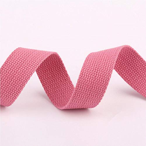 Tusin - Cinta de lona de algodón de 25 mm, correa para mochila de tenacidad, color rosa