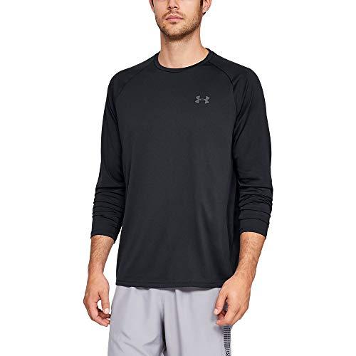 Under Armour Herren Tech 2.0 Ls sportliches und atmungsaktives Langarmshirt mit Anti-Odor Technologie, schnell trocknendes Sportshirt für Männer , schwarz, M