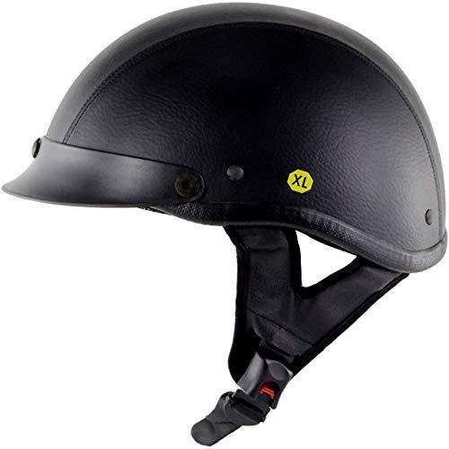 ZHXH Casco de moto Harley, casco de colisión transpirable