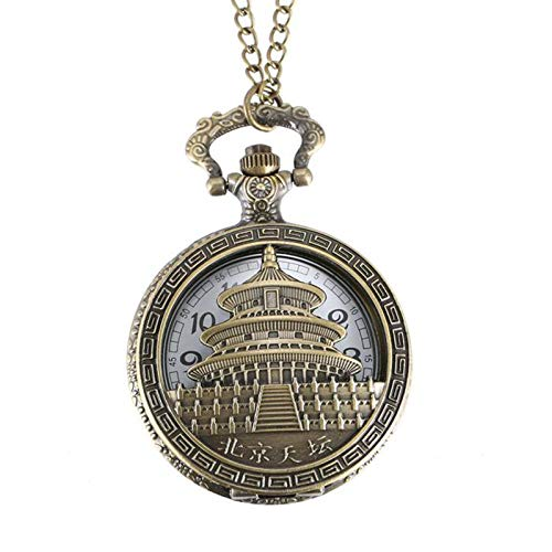 Nrpfell Gro?e Klassische Peking Tiantan Gedenk Taschen Uhr Bronze Peking Bauen Taschen Uhr