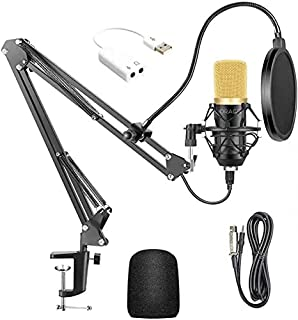 USB Streaming PC Microphone, Professional Studio Broadcasting & Recording Microphone Set, JORAGO Professional BM700 Cardio...