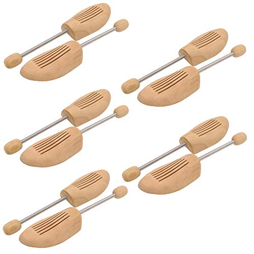WIS 5 Paar Schuhspanner Spiralfeder Schuhstrecker Lotusholz Schuhpflege Herren/Damen Gr. 38-39