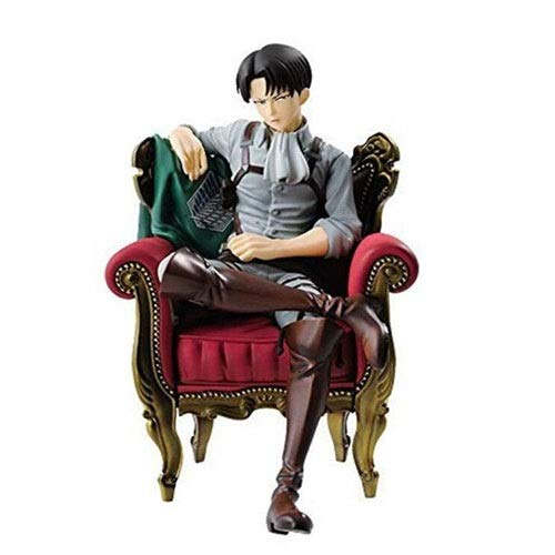 Attack On Titan Levi Ackerman Nendoroid Giocattolo for Bambini Anime Figma Statua Collezione di Modelli Regalo Regalo di Compleanno for Decorazione Auto Decorazione Domestica 12 cm