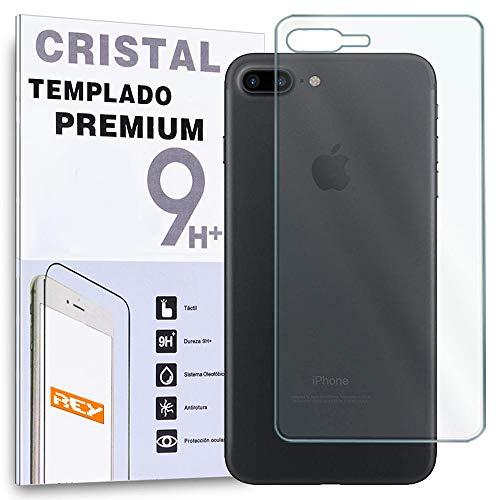 REY Protector de Pantalla Trasero para iPhone 7 Plus/iPhone 8 Plus, Cristal Vidrio Templado Premium