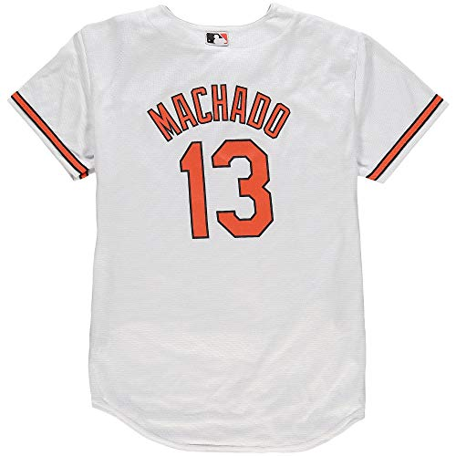 Outerstuff Manny Machado Baltimore Orioles White Youth Cool Base Home Replica Jersey (Medium 10/12)